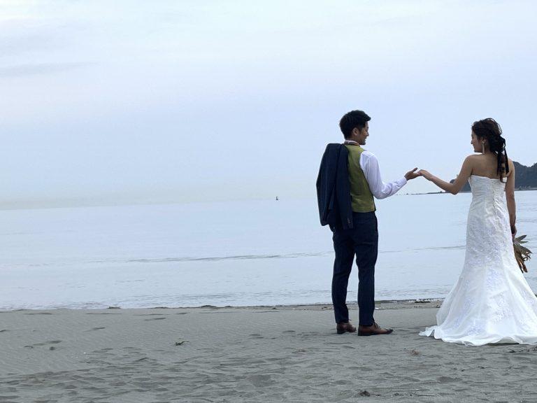 小松海岸 ウエディングドレス