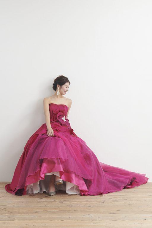 カラードレス 花嫁 徳島 ピンク