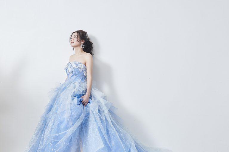 ブルーカラードレス